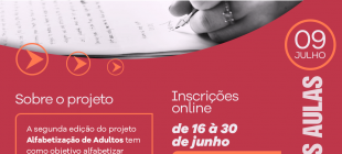 Ação Social da IBG promove mais um projeto de Alfabetização de Adultos